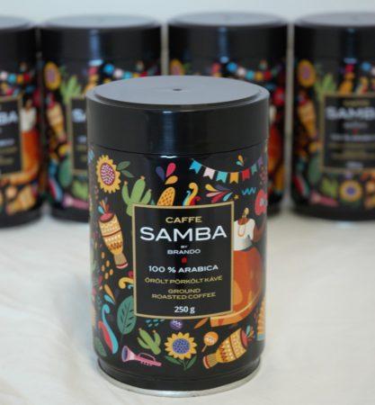 """Ciao Brando """"SAMBA"""" pörkölt őrölt kávé díszdobozban"""